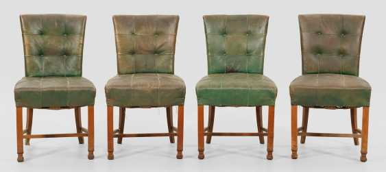 Set of four Art Deco dining room chairs - photo 1