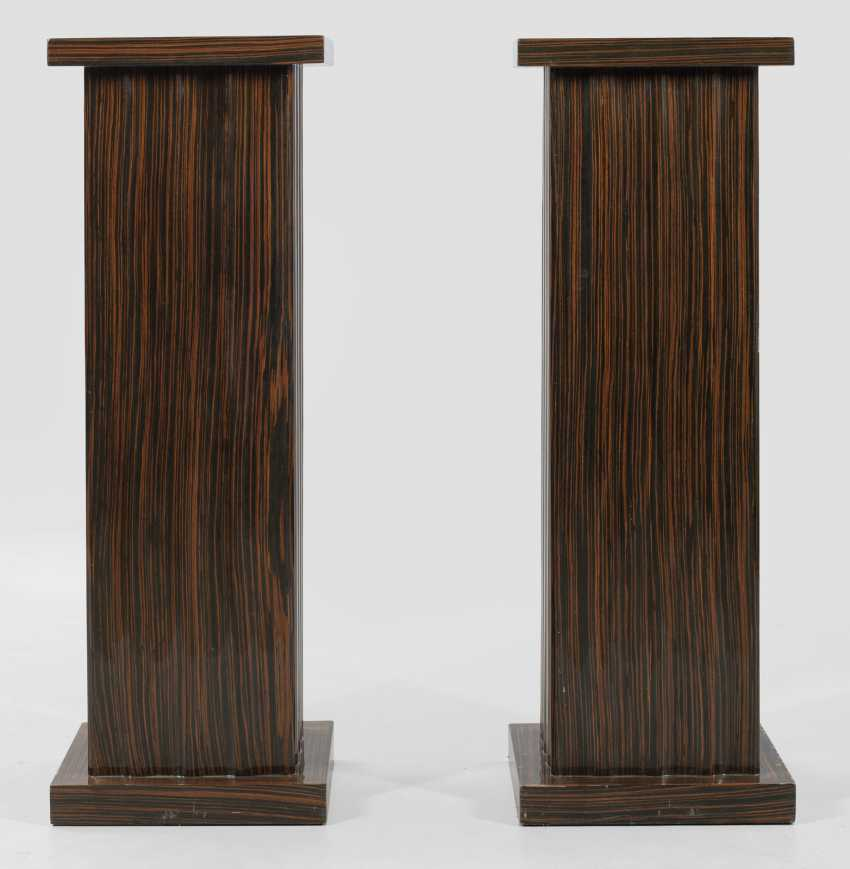 Pair of large pedestal base in the Art Deco style - photo 1