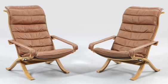 Pair of armchairs by Ingmar Relling - photo 1