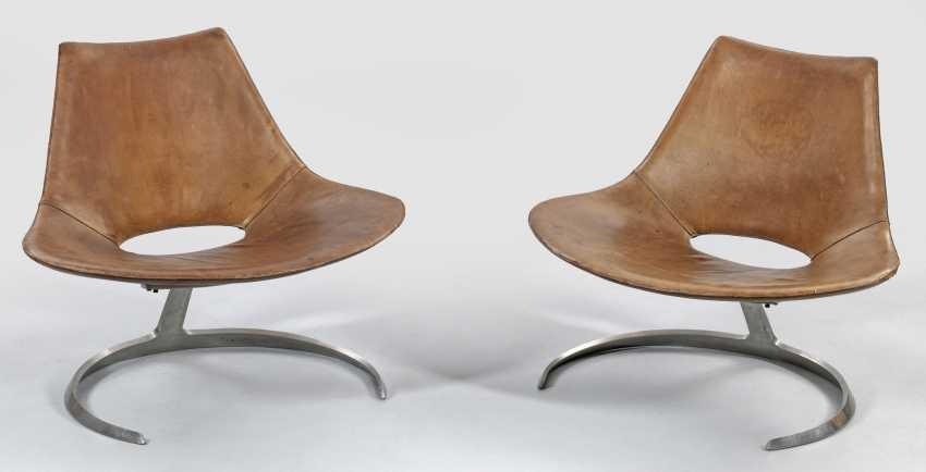 Paar Scimitar-Sessel von Preben Fabricius & Jørgen Kastholm - photo 1