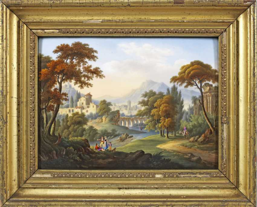 Porcelain painting with an Arcadian landscape - photo 1