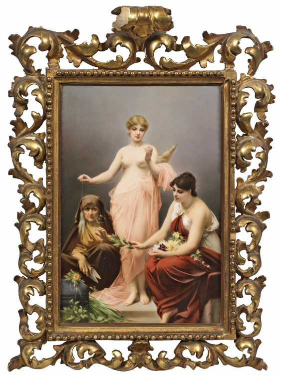 """Porcelain painting, """"The three fates"""" - photo 1"""