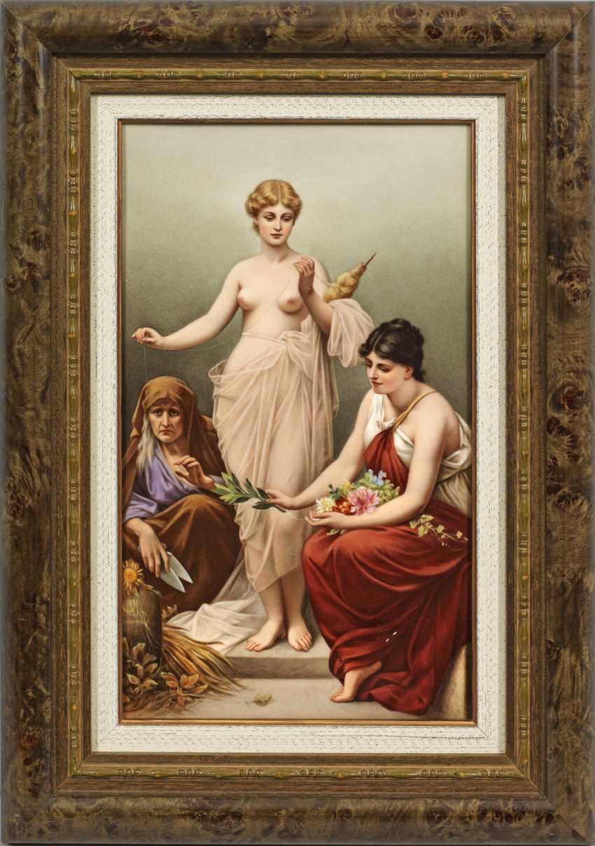 "Porcelain painting, ""The three fates"" - photo 1"