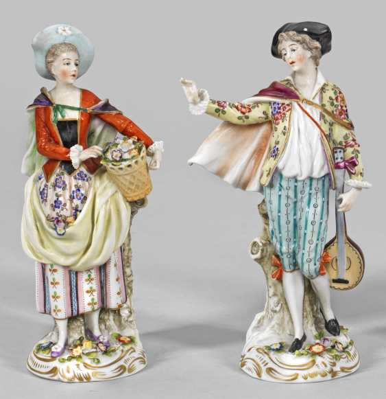 """Figure couple of """"teacher"""" and """"the lute player"""" - photo 1"""
