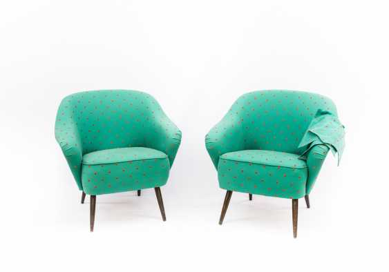 PAIR of LOUNGE CHAIRS in THE 1950s - photo 1