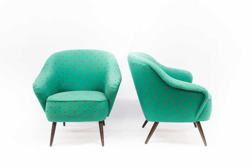 PAIR of LOUNGE CHAIRS in THE 1950s - photo 2