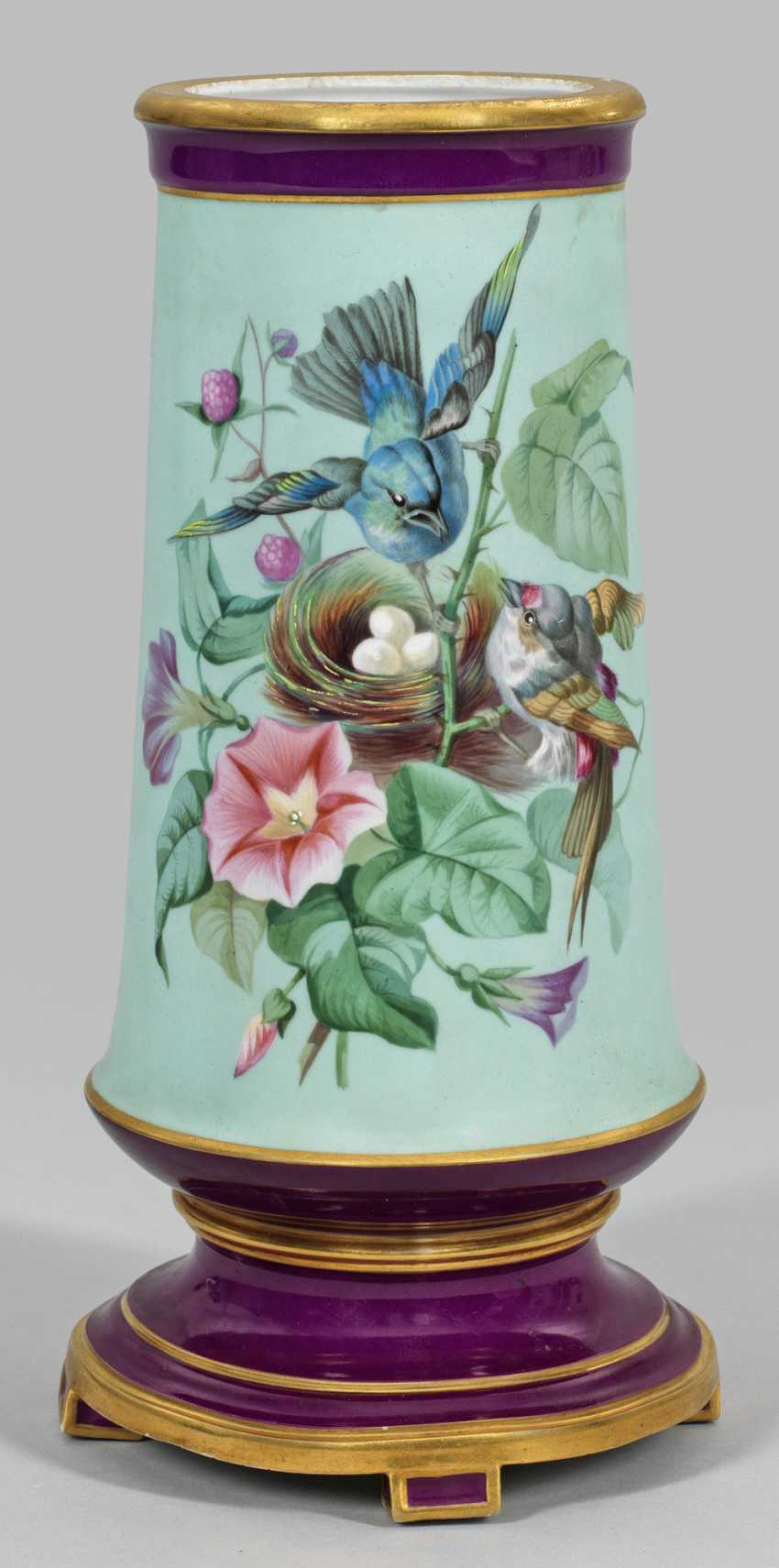 Russian vase with bird and floral decor - photo 1