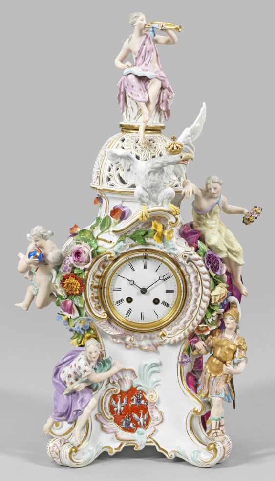 Large ornate clock with the Polish-Lithuanian coat-of-arms - photo 1