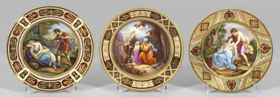 Three screen plates with illustrations after Angelica Kauffmann - photo 1