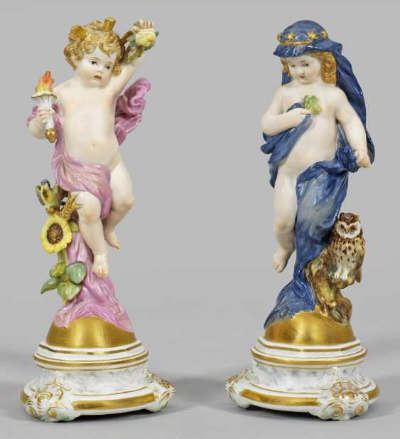 Two putti as an allegory of the day and night - photo 1