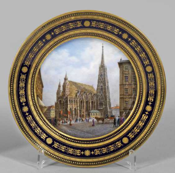 Image plate with view of St. Stephen's Cathedral in Vienna - photo 1