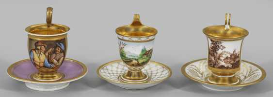 Three Biedermeier View Of Cups - photo 1