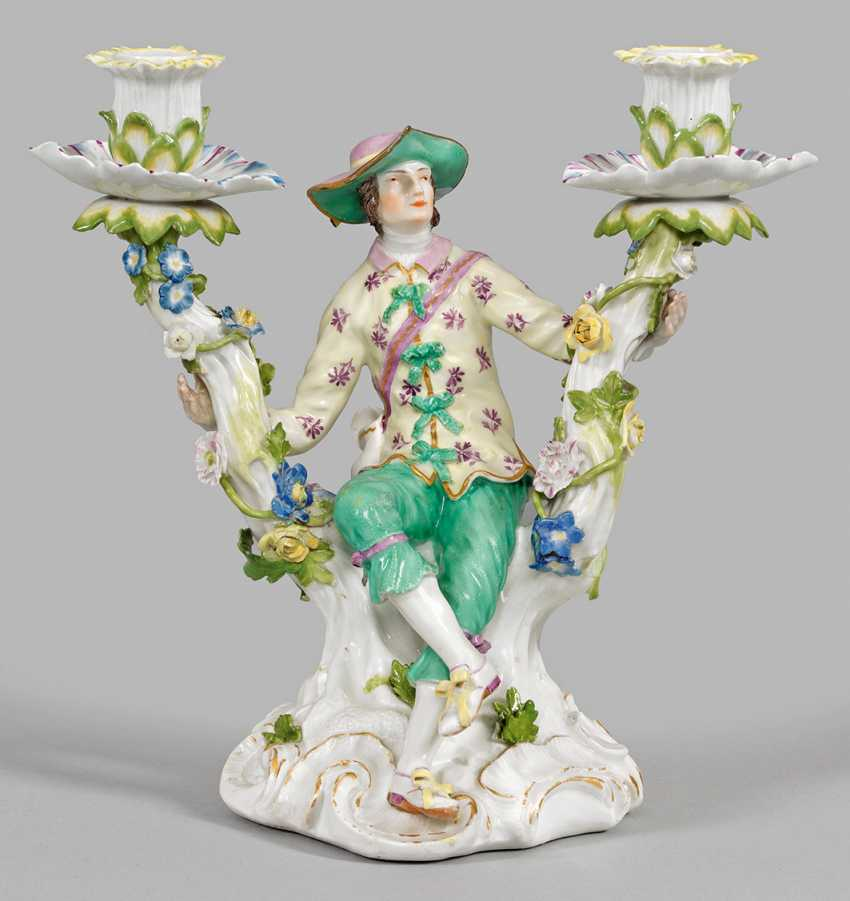 Their figural candlesticks with cavalier - photo 1