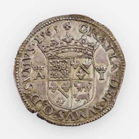 County of France-Bearn - Teston 1565, Antoine and Jeanne (1555-1562), - photo 2