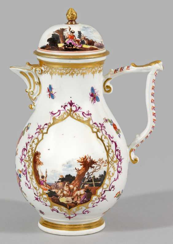 Coffee pot with pastoral scenes - photo 1