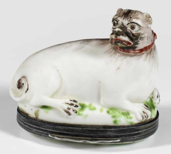 Anatomical snuffbox in the shape of a pug - photo 1