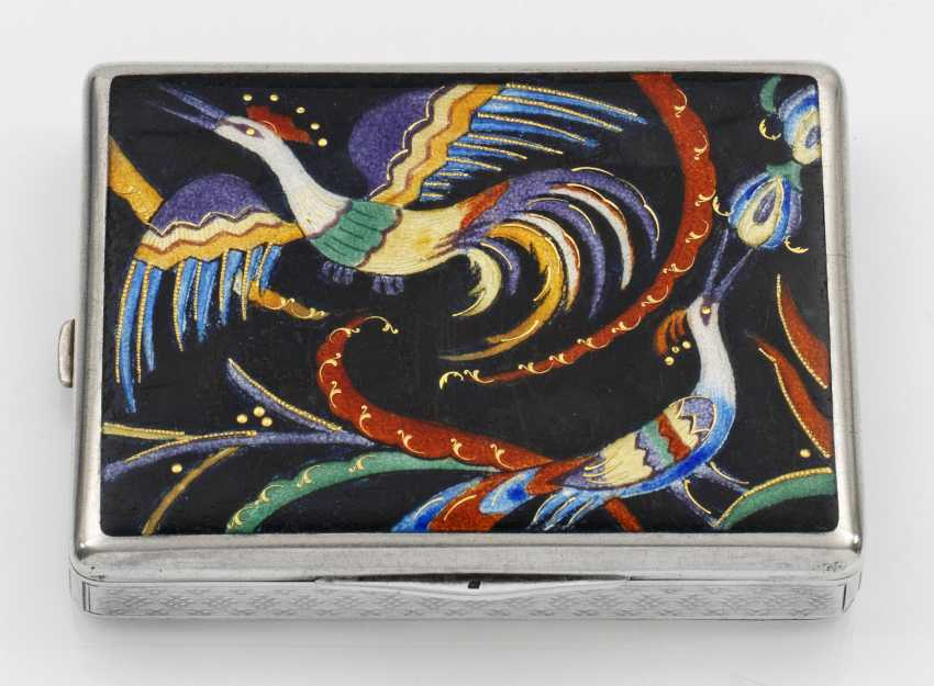 Art Deco cigarette case with double lid - photo 1