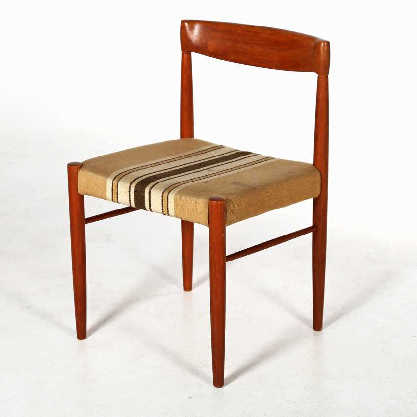 "H. W. KLEIN, ""dining TABLE MODEL no. 62 AND 3 CHAIRS"" - photo 3"