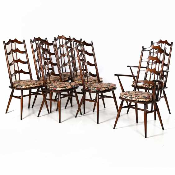 "ERCOL ""SET OF 8 WINDSOR CHAIRS"" - photo 1"