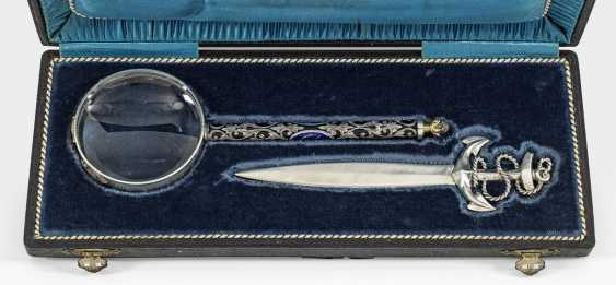 Letter opener and magnifying glass - photo 1