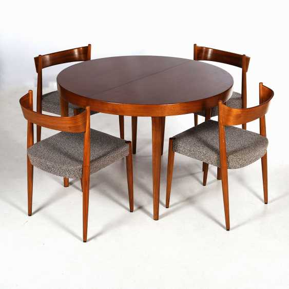 ROUND DINING TABLE WITH FOUR CHAIRS - photo 1
