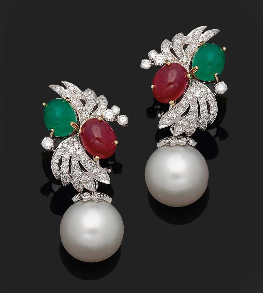 Some representative South sea pearl clip-on earrings - photo 1
