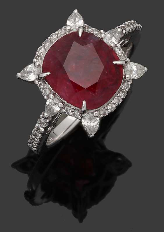 High-Fine Mozambique Ruby Ring - photo 1