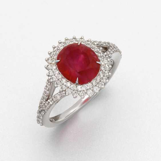 Classic Burma Ruby Ring - photo 1