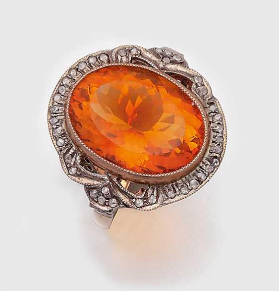 Victorian Madeira Citrine Ring - photo 1