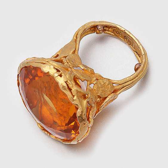 Fancy design ring with a Minas Gerais-citrine - photo 1