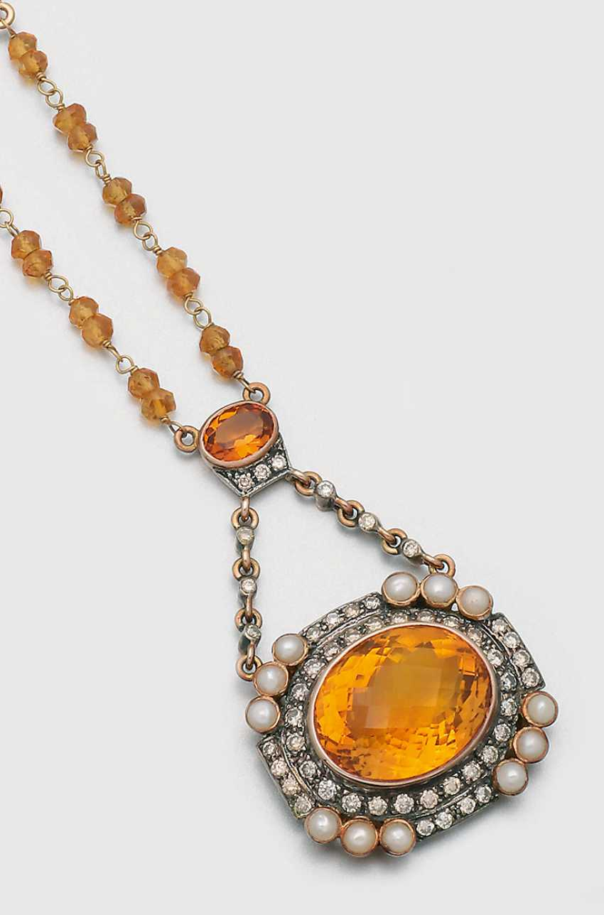 Citrine necklace in Victorian style - photo 1