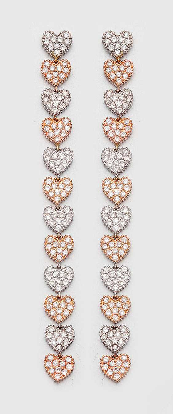Pair of extravagant diamond earrings - photo 1