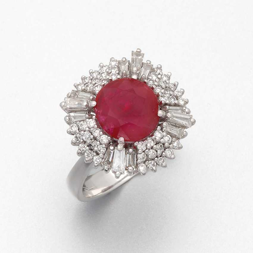 Elegant Burmese Ruby Ring - photo 1