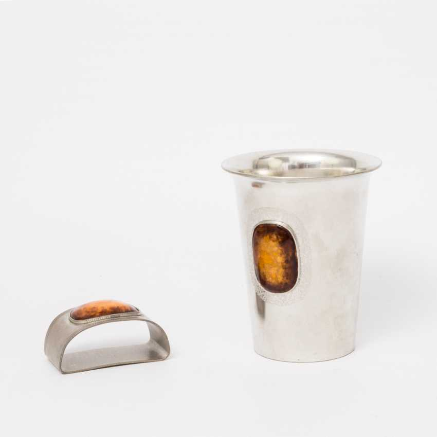 SIX TIN cups, AND servieten rings IN the DESIGN of THE 70s - photo 3