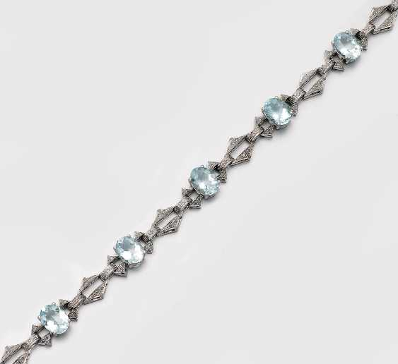 Aquamarin-Armband - photo 1