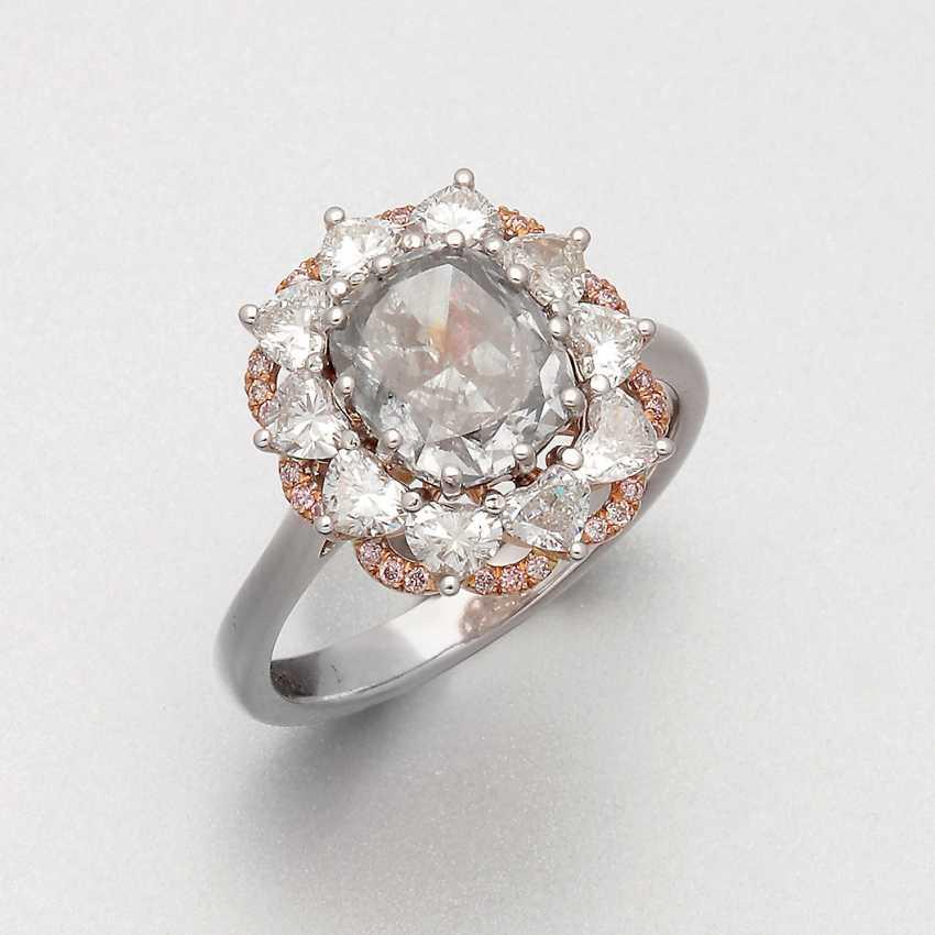 Seltener Natural Fancy-Diamantring - photo 1
