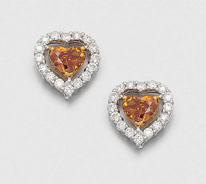 Paar Natural Fancy-Diamantohrringe - photo 1