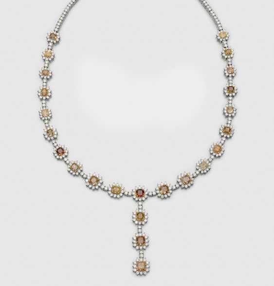 Rivière necklace with Natural Fancy diamonds - photo 1