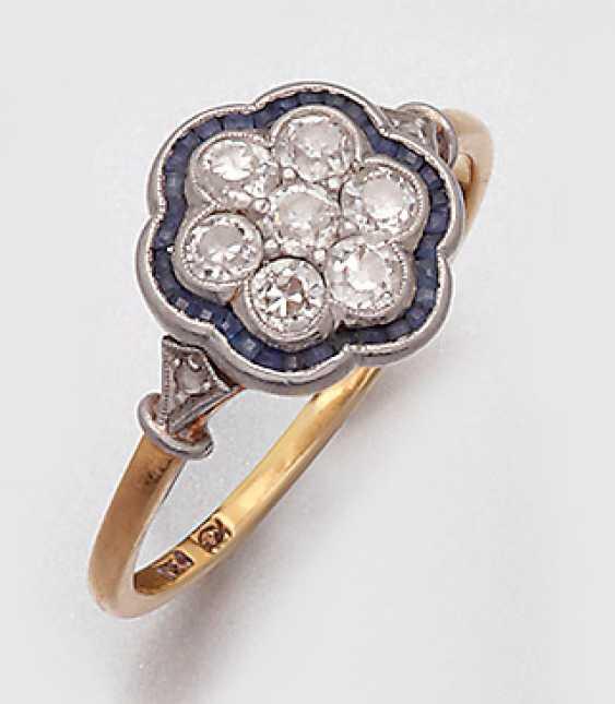 Fine Art Nouveau Diamond Ring - photo 1
