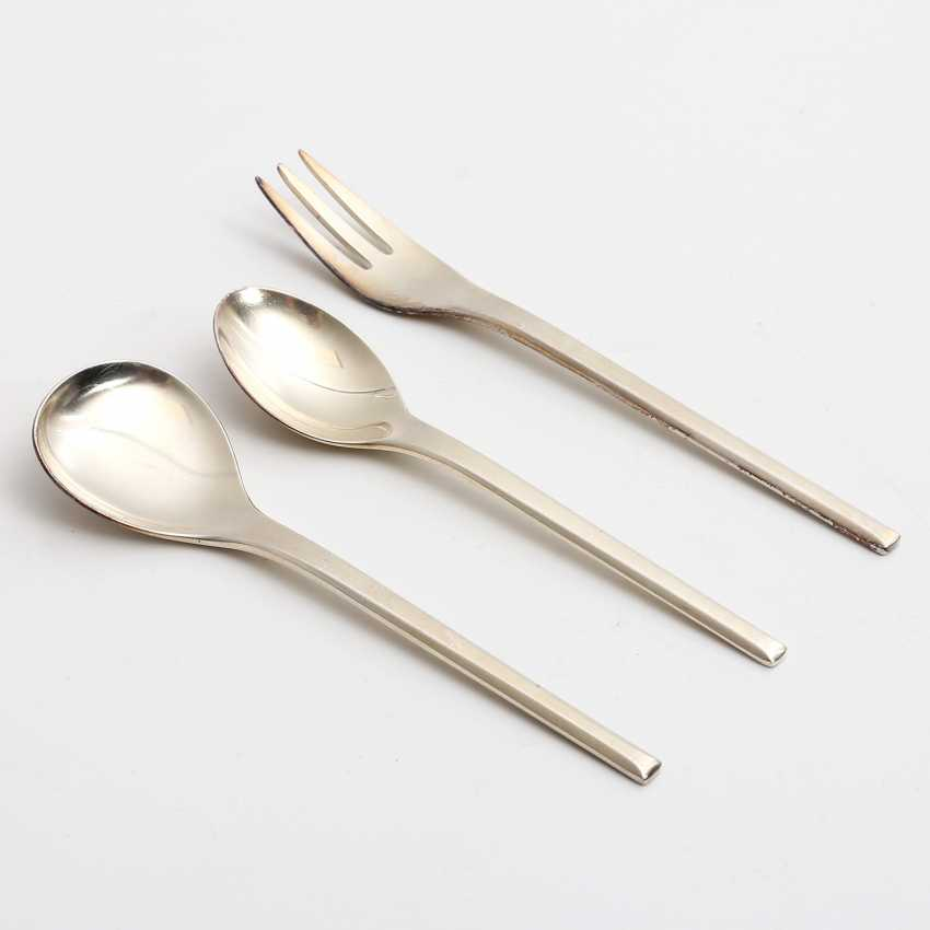 WMF dining Cutlery for 12 persons, 'Helsinki', silver-plated, 20. Century - photo 3