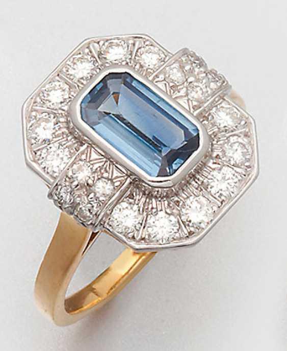 Classic Sapphire And Diamond Ring - photo 1