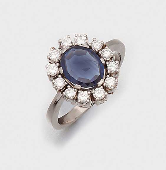 Classic Sapphire And Diamond Ring - photo 1