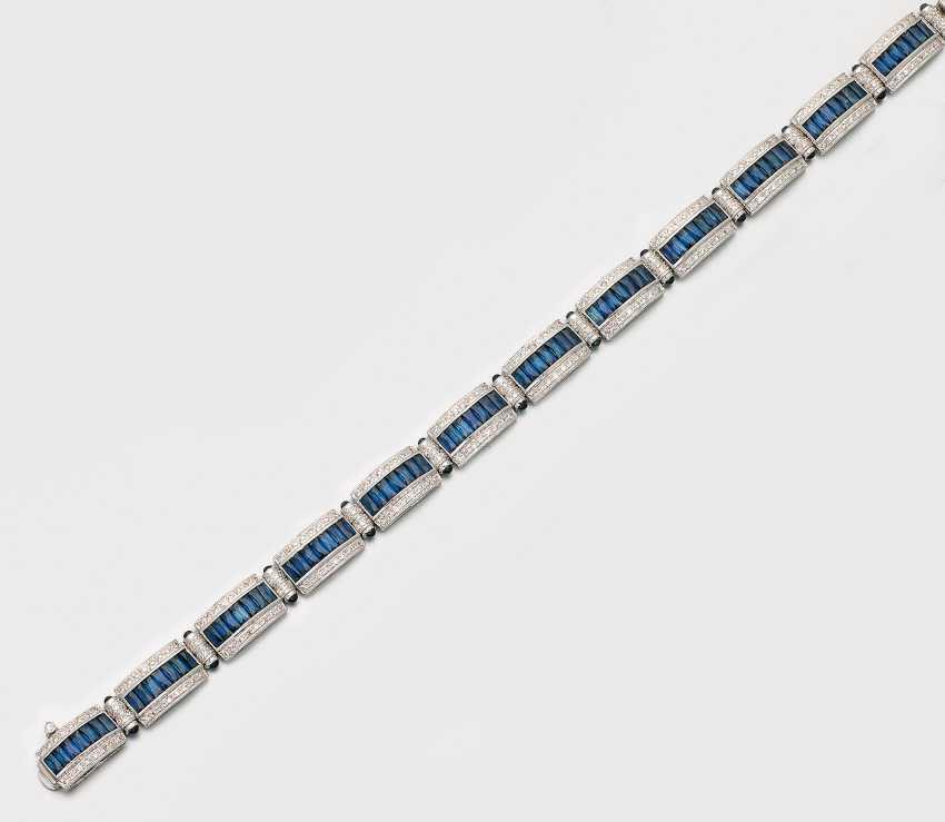 Art-Deco-Sapphire-Diamantarmband - photo 1