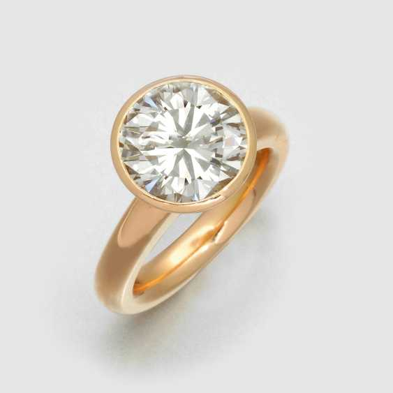 Large Brilliant Solitaire Ring - photo 1