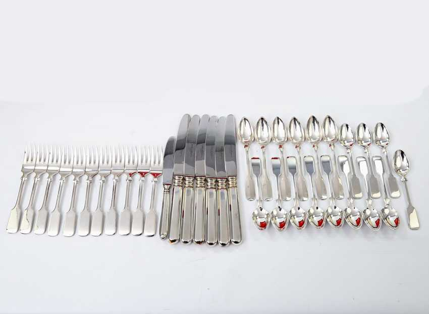 ROBBE & BERKING dining Cutlery for 12 persons, 'Alt-Spaten', 925, 20./21. Century - photo 2