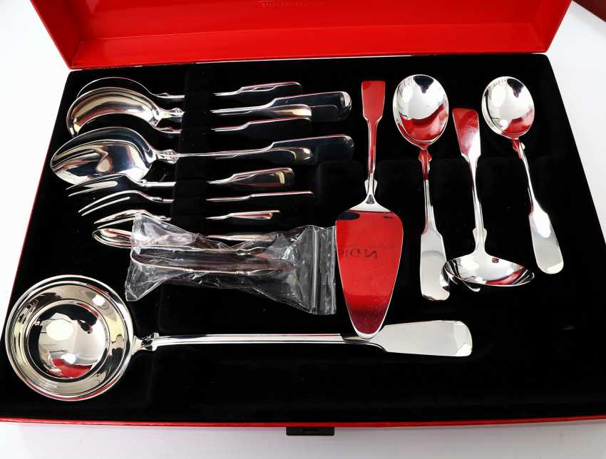 ROBBE & BERKING dining Cutlery for 12 persons, 'Alt-Spaten', 925, 20./21. Century - photo 3