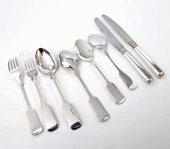 ROBBE & BERKING dining Cutlery for 12 persons, 'Alt-Spaten', 925, 20./21. Century - photo 5