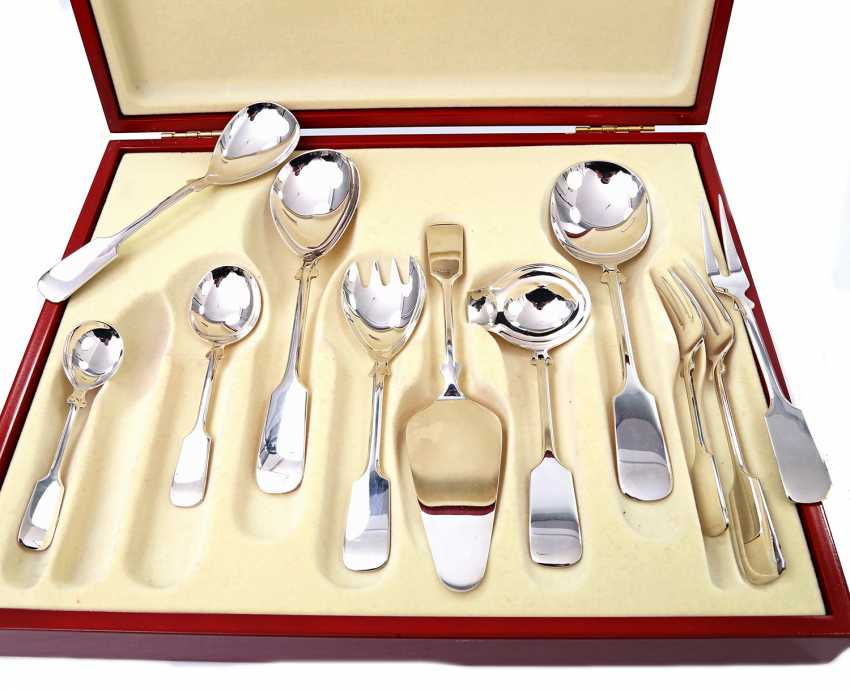 ROBBE & BERKING dining Cutlery for 12 persons, 'Alt-Spaten', 925, 20./21. Century - photo 6