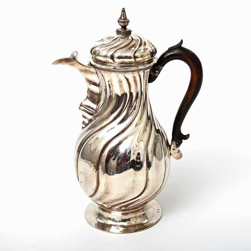 Coffee pot, 12 shekels of SILVER, 19. Century - photo 1