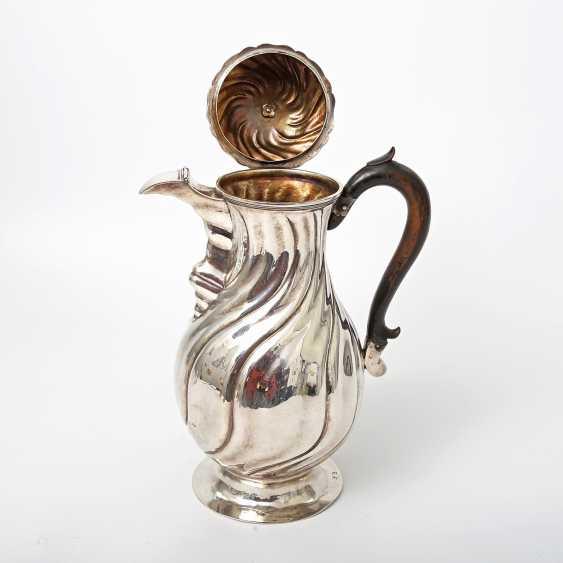 Coffee pot, 12 shekels of SILVER, 19. Century - photo 2
